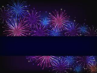 blue purple fireworks