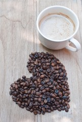 coffee beans in love