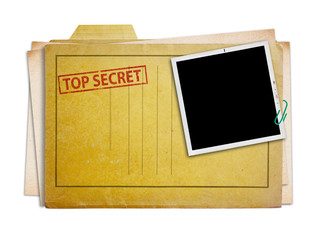 top secret folder isolated