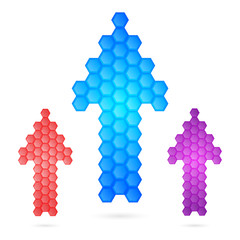 glowing-arrow-honeycomb-isolated-on-white-background