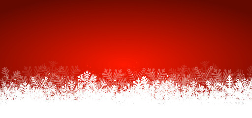 Wall Mural - Red Panorama Christmas Background