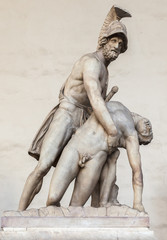 Menelaus holding the body of Patroclus