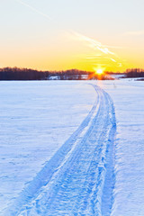Wall Mural - Snow way to the sun