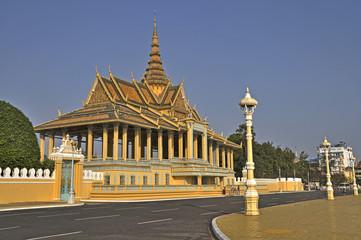 Stadtzentrum von Pnom Penh mit Königspalast