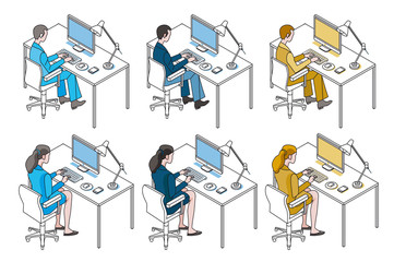 Office Workers with Computer