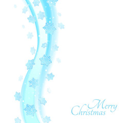 Abstract color wave design element. Christmas illustration
