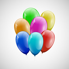 Colorful balloons with white background