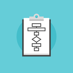 Business flowchart process flat icon illustration