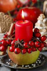 Apple candle holder
