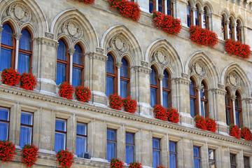 Vienna City Hall windows