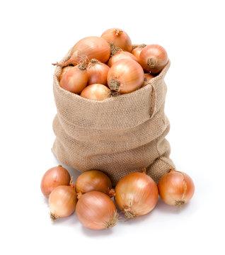 Sack of yellow onions