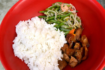 Asian lunch food photo