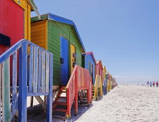 Staande foto Zuid Afrika Summer beach huts