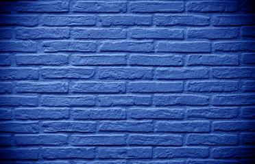 deep blue brick wall