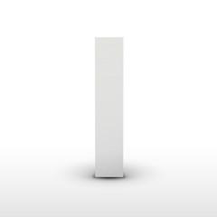 white letter I isolated on white