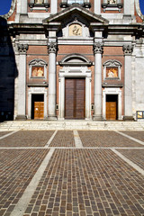 italy  lombardy     in  the somma lombardo old   church  closed
