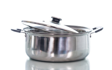Non stick sauce pan isolate