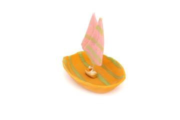 """Thai sweet dessert """"ship"""" model"""