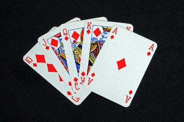 Royal flush poker hand © Arena Photo UK
