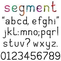 Handwritten Segment Font - Lower case