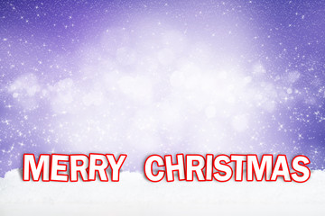 Merry Christmas im Schnee