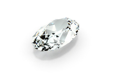 Diamond Oval Cut, White Background
