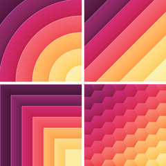 gradient trendy color background pack. Vector