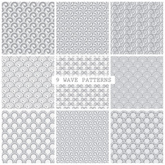 gray wave traditional patterns