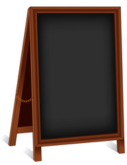 Sign, Folding Wood Chalk board Easel, brass chain, copy space