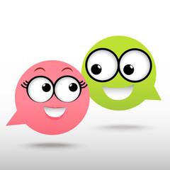 smile talking bubble