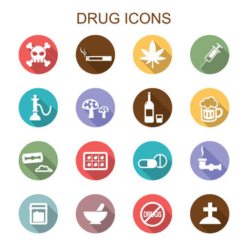 drug long shadow icons