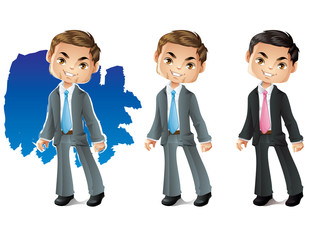Businessman - Stylized Business Character Smiling