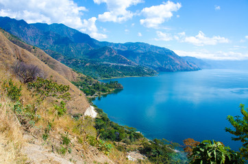 Shore at Lake Atitlan in Guatemala - San Juan La Laguna