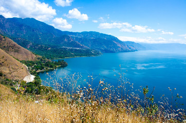 Shore at Lake Atitlan in Guatemala