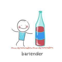 Bartender is a great bottle of wine