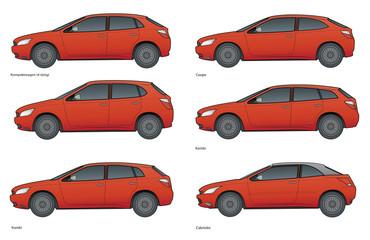 PKW- markenneutrale Modellreihe Farbe 1
