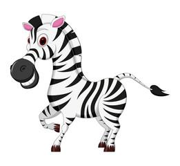 Happy Zebra cartoon