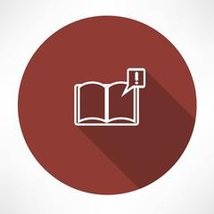 Illustration of books with symbol