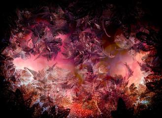 Abstrakte Eiskristalle