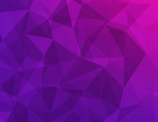polygon geometric abstract background of dark purple
