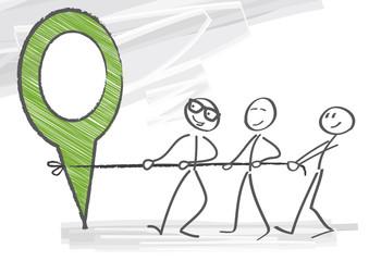 An einem Strang ziehen - teamwork