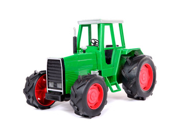 green toy farm tractor