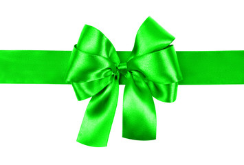 light green bow photo made from silk