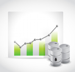 rising oil prices illustration design