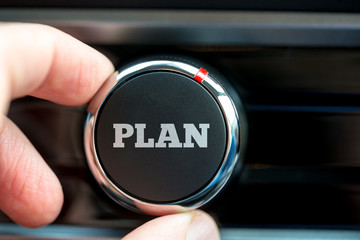 Man turning on a plan button