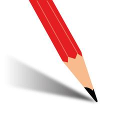 Illustration of a cartoon pencil writing
