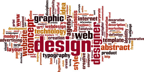 Design word cloud concept. Vector illustration