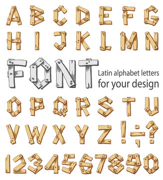 Font consisting of the Latin alphabet and digits