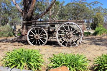 Old Australian settlers horse drawn wagon