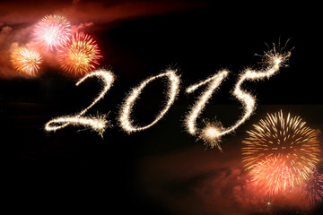 2015 written in Fireworks for New Year.